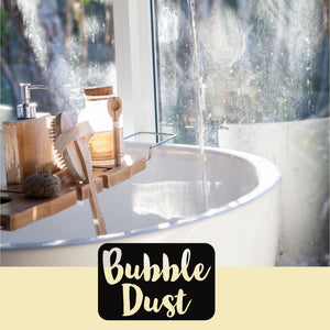 Bubble Dust- 16 oz. Bubble Dust is our #1 selling item for good reason! It has all the skin softening benefits of our Bath Bombs with the added fun of bubbles.   Sprinkle 2-3 tablespoons under running water and watch the bubbles explode! Once bubbles have diminished you can agitate the water and your bubbles will appear again.