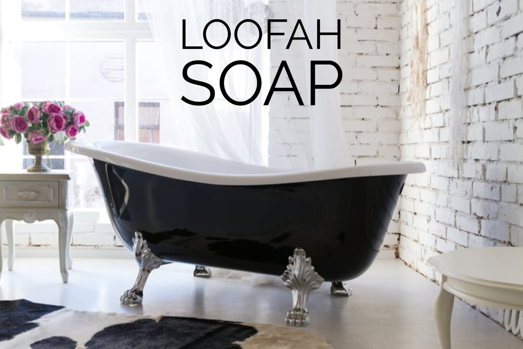 Cleanse, nourish, and scrub all at the same time! Detergent & SLS free, ALL VEGETABLE GLYCERIN soap keeps your skin moisturized and healthy.   The Loofah is a great way to naturally exfoliate dry skin off. Use soap in gentle circular motions on rough skin areas.  Handcrafted in St. Jacobs Ontario