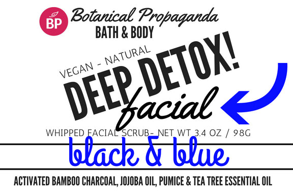 NEW Deep Detox Facial Black & Blue