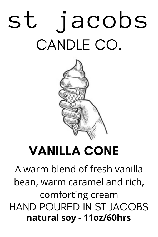 🍦Vanilla Cone- NEW - 😎🏝️ St. Jacobs Candle Summer 2020 Collection 🍹🏄