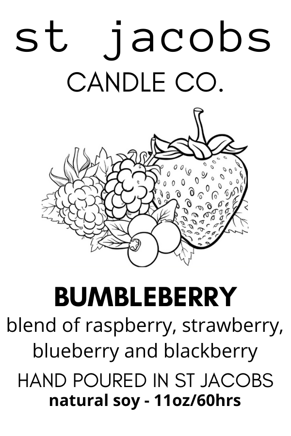 BUMBLEBERRY Natural Soy Candle 11 oz