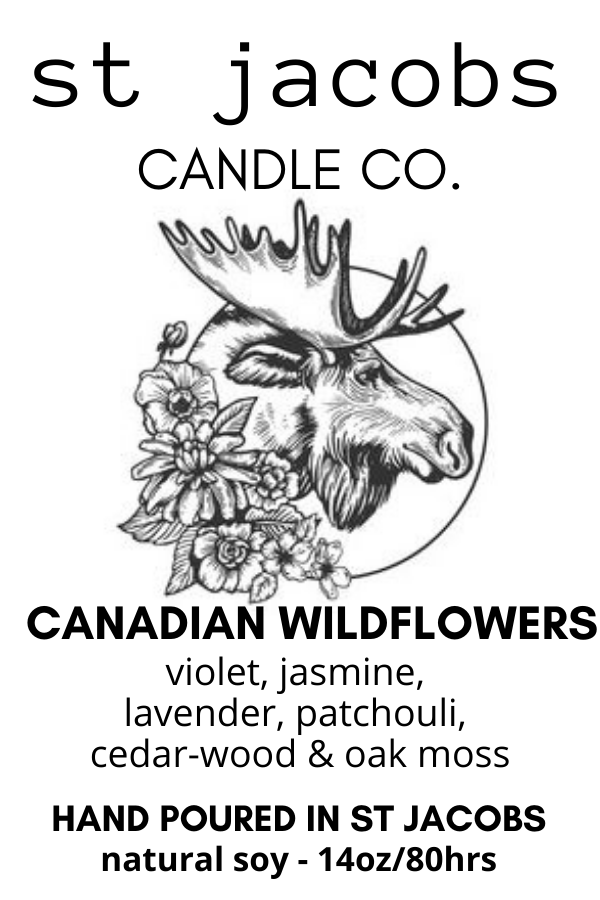 """Canadian Wildflowers"" Natural Soy Candle"