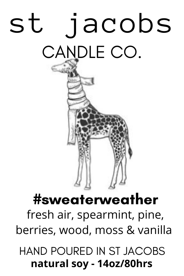 #sweaterweather Soy Candle