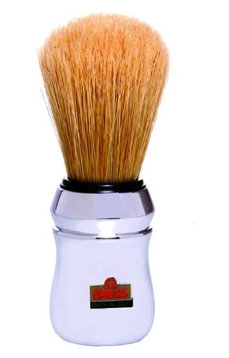 Omega Chrome Boar Bristle Shaving Brush