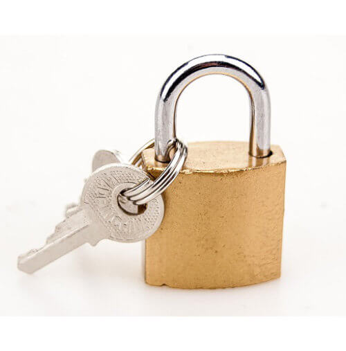 BOUND Padlock and Key