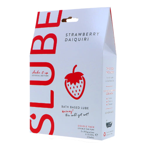 Slube Strawberry Daiquiri Water Based Bath Gel 500g