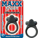 Maxx Gear Vibrating Cock Ring with Clitoral Stimulation Black