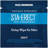 Doc Johnson Sta Erect with Pheromone Delay Wipe For Men