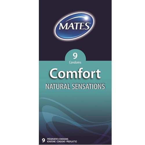 Mates Comfort Natural Sensations Condoms 9 Pack