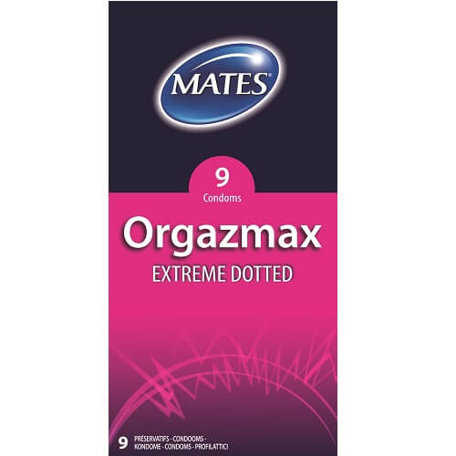 Mates Orgazmax Extreme Dotted Condoms 9 Pack