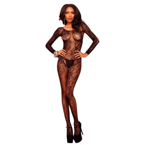Leg Avenue Swirl Lace Bodystocking