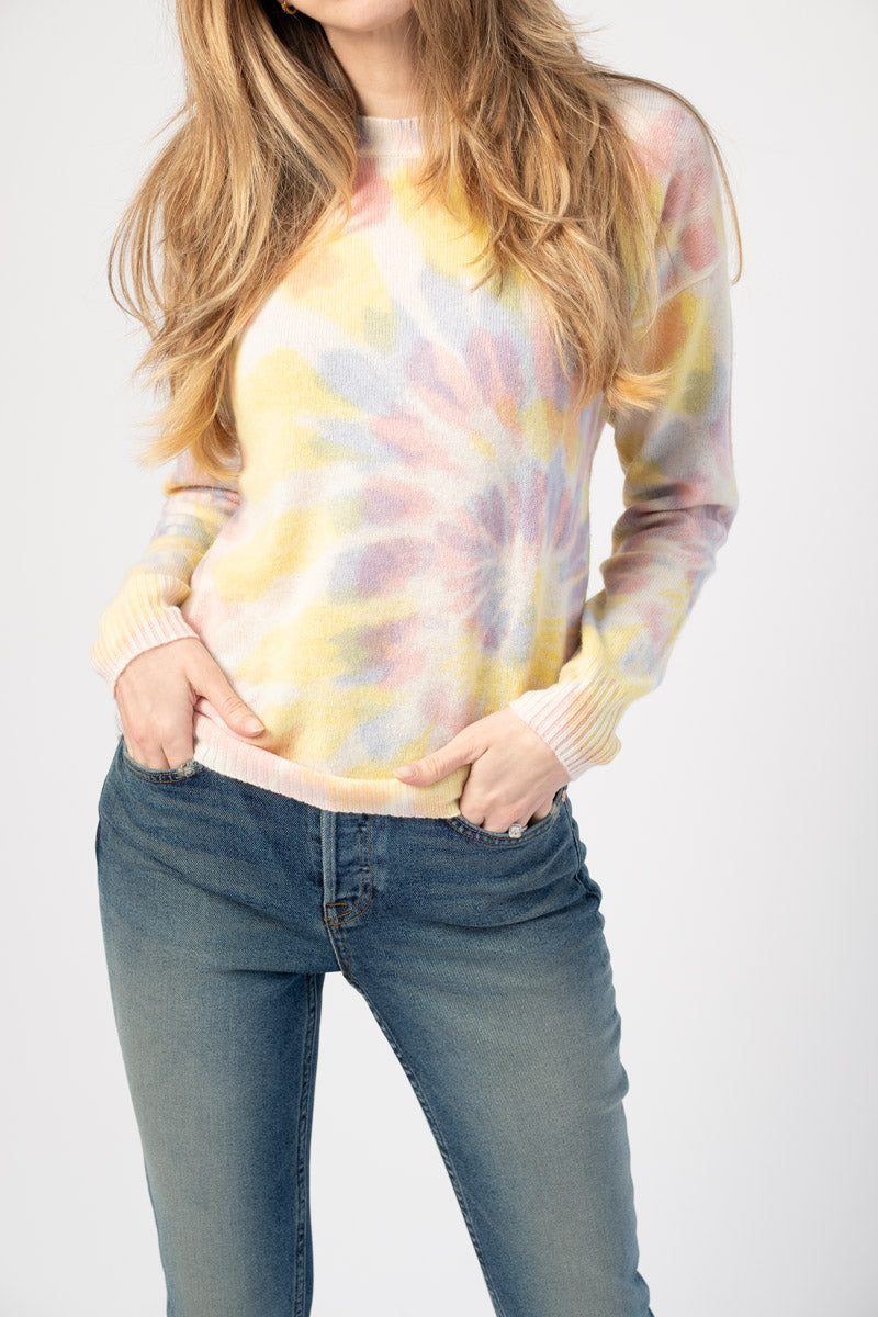 Gaia Pullover Crewneck Sweater in Sorbet