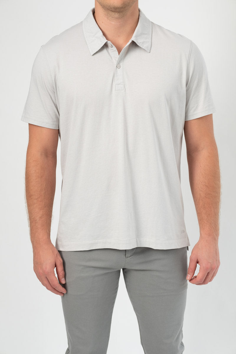 Short Sleeve Polo in Grey