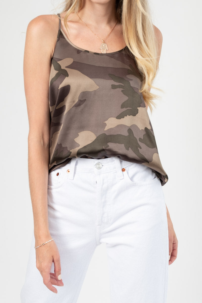 Silk Cami in Jungle Camo