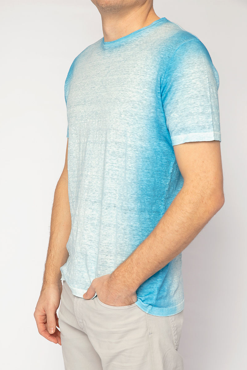 Knit T-Shirt in Aqua