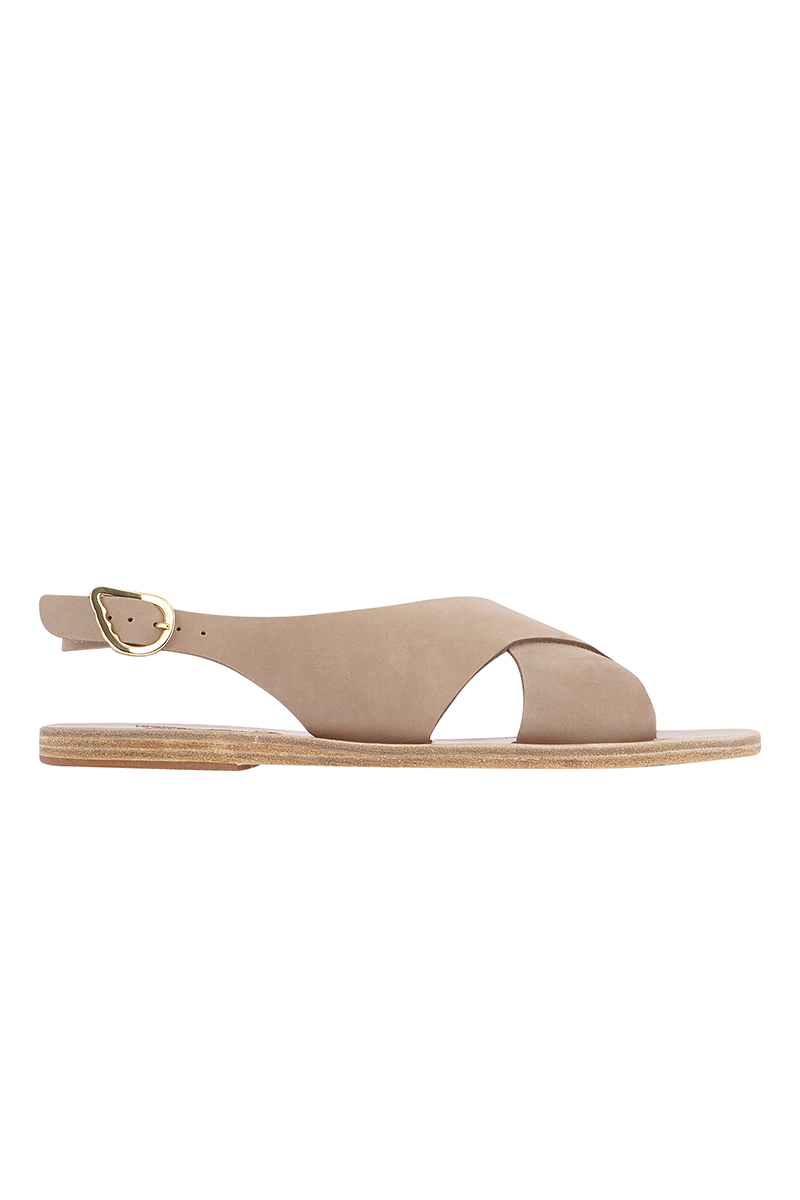 Maria Nubuck Sandals in Canapa
