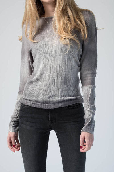 Pullover with Stretch Edges in Delfino