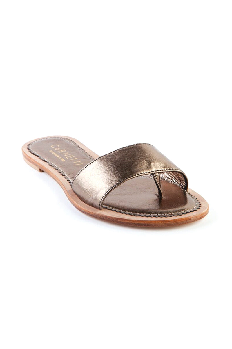 Cannucce Slides in Earthen Metallic