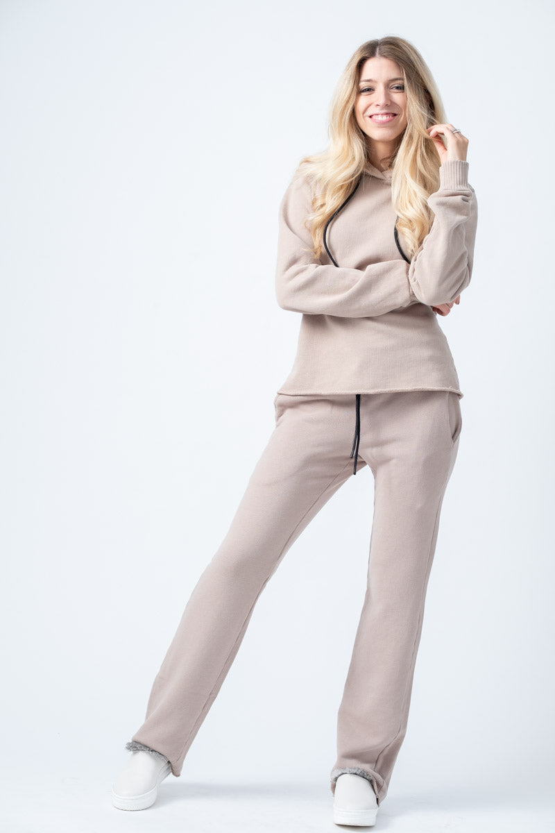Brooklyn Trouser Sweatpants in Cappuccino