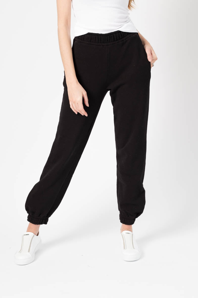 Brooklyn Sweatpants in Jet Black