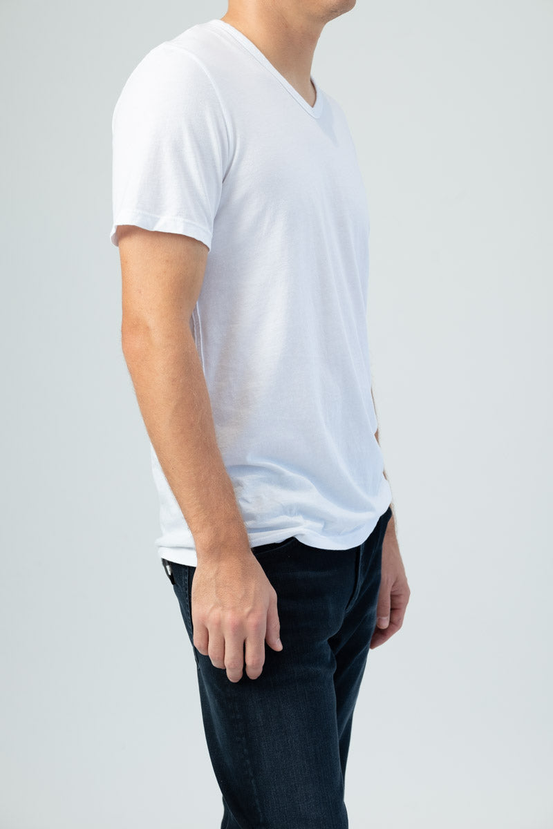 Classic V-Neck Tee in White