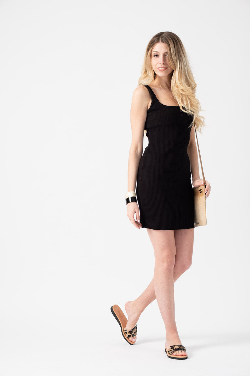Ibiza Tank Dress in Jet Black