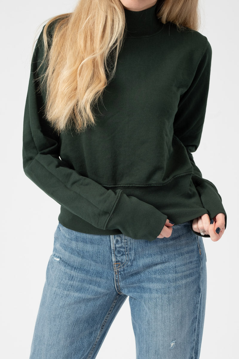 Milan Sweatshirt in Battle Green