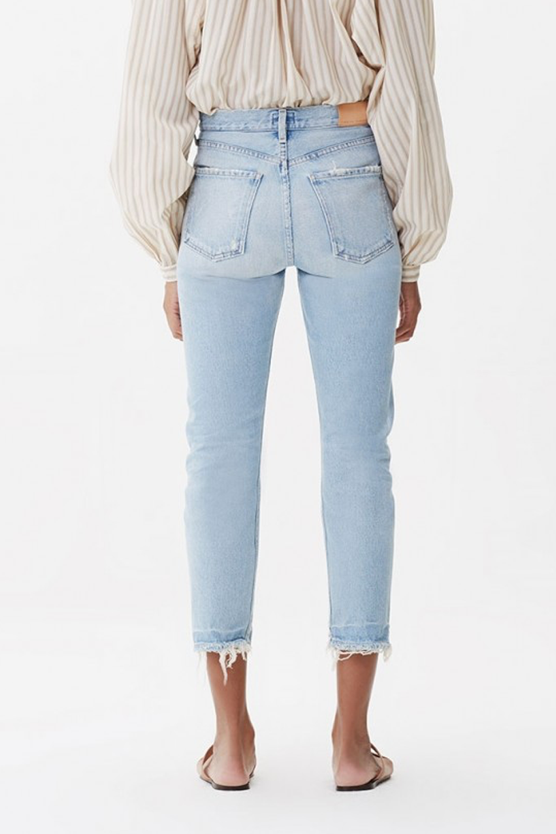 Charlotte Crop High Rise Straight Jean in Wild One