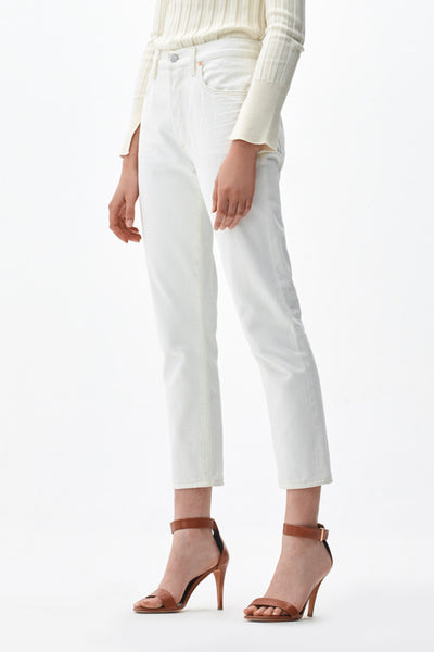 Liya High Rise Classic Fit in White