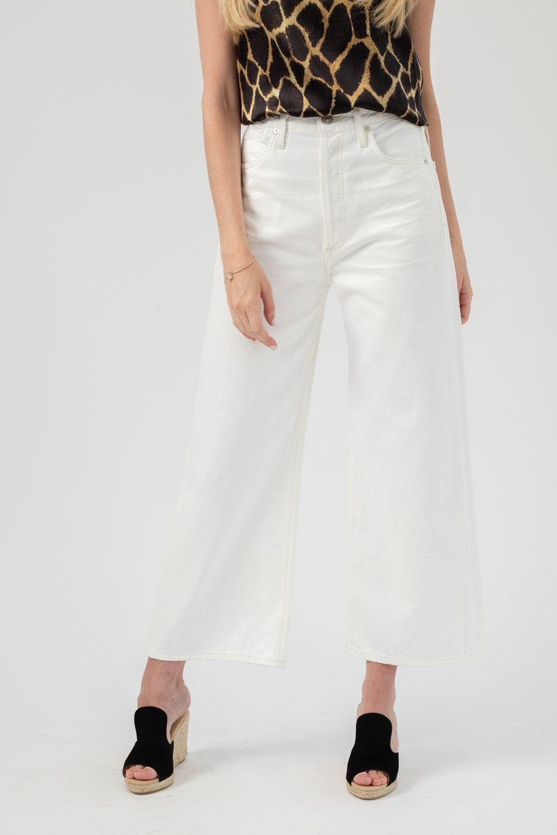 Sacha High Rise Wide Leg in Soft White
