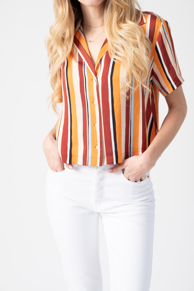 Mini Short Sleeve Shirt in Sunrise Multi