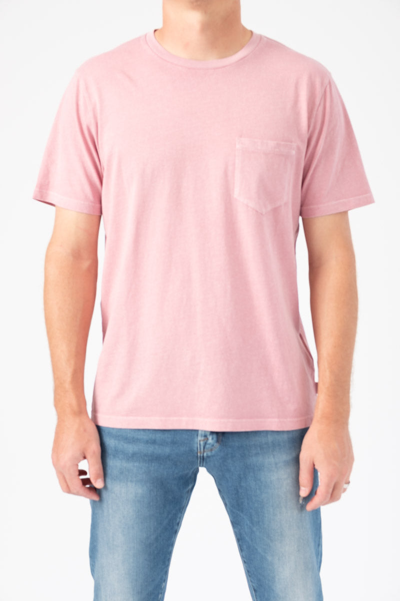 Short Sleeve Pocket Tee in Faded Lilac