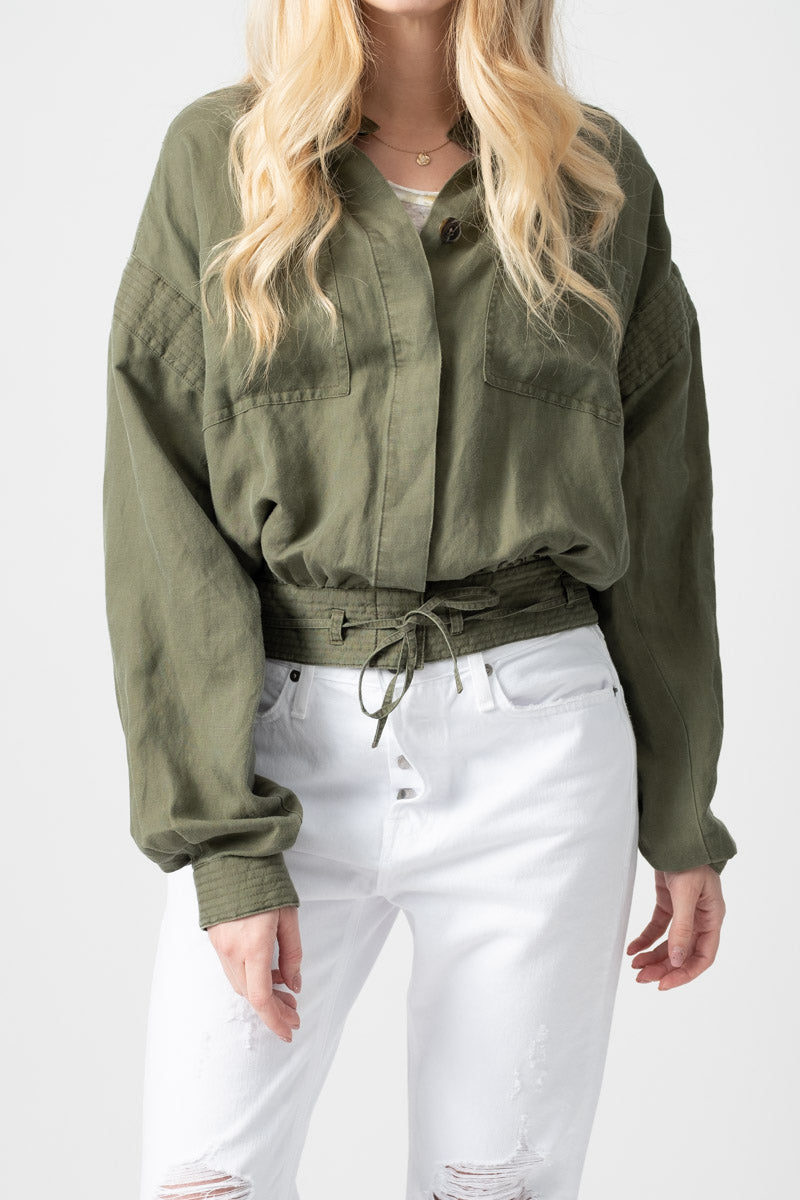 Double Pocket Jacket in Army Green