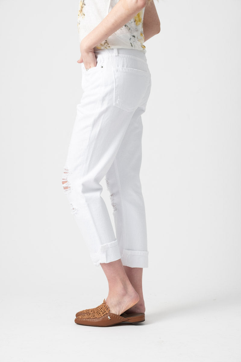 Le Pegged Jean in Blanc Voyage