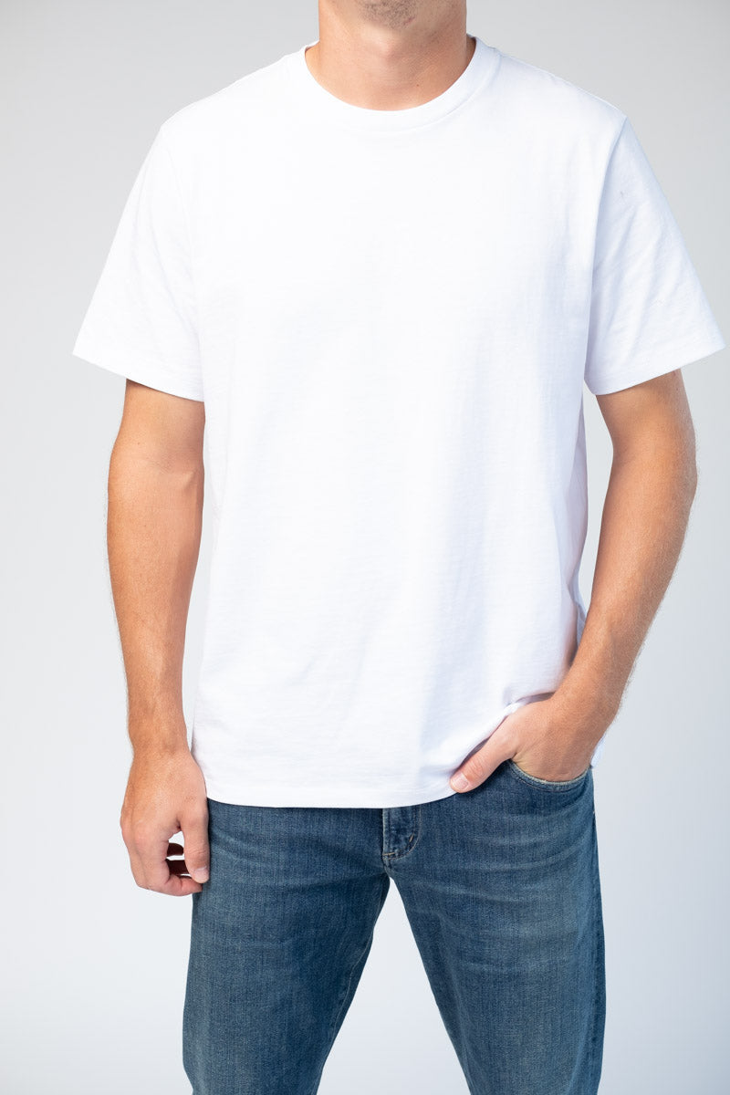 Classic Fit Tee in Blanc