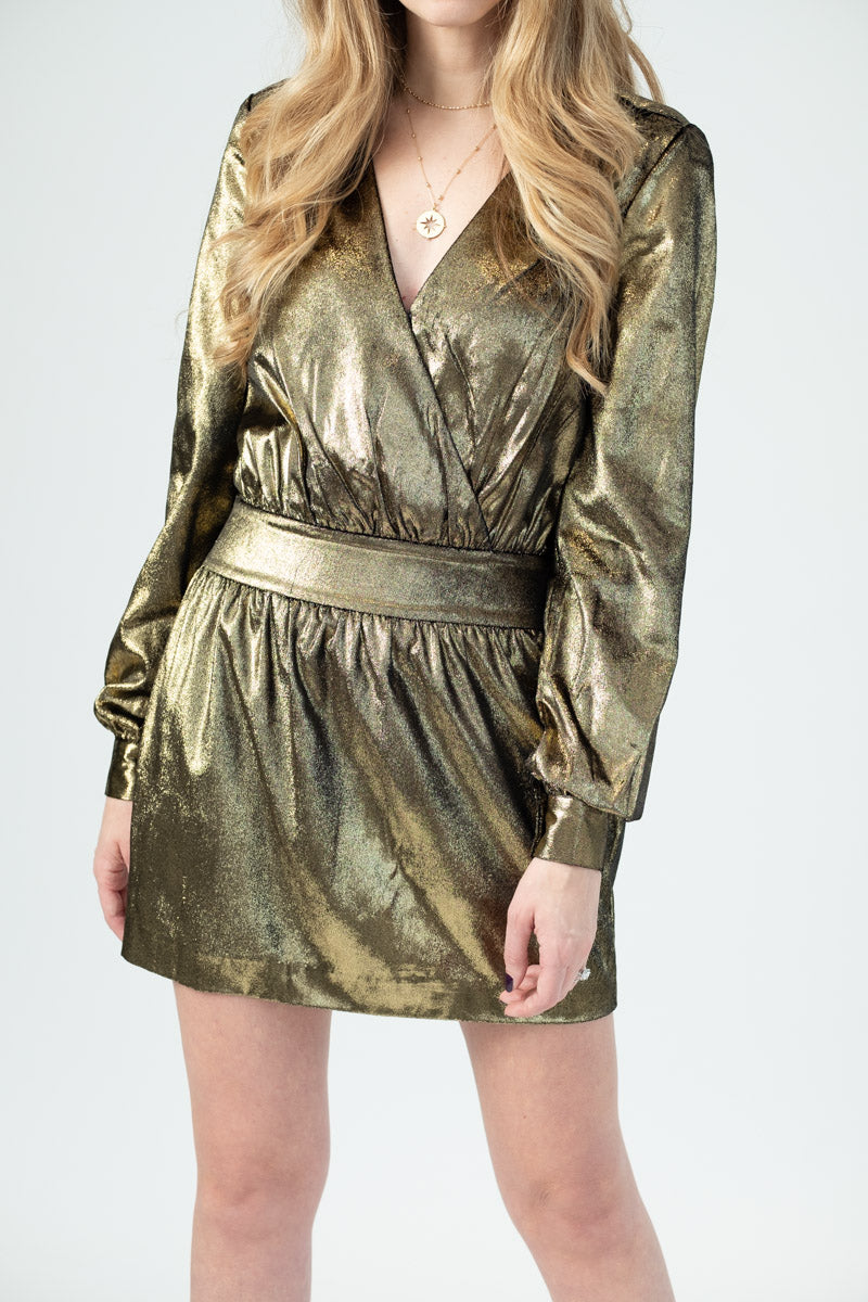 Metallic Velvet Dress