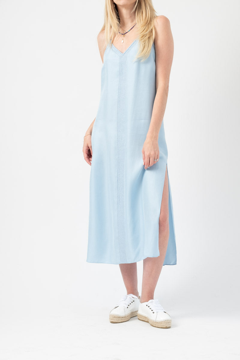Mini Slip Dress in Soft Blue
