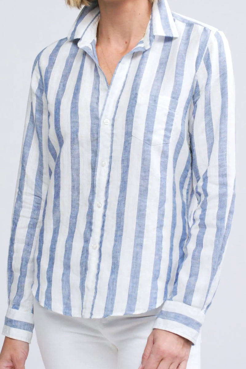 Barry Button Down Shirt in Wide Stripes