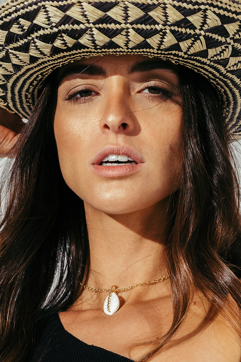 Small Braided Straw Panama Hat