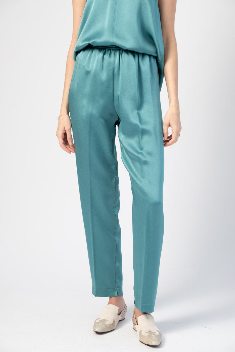 Envers Satin Crepe Elasticated Pants in Topazio