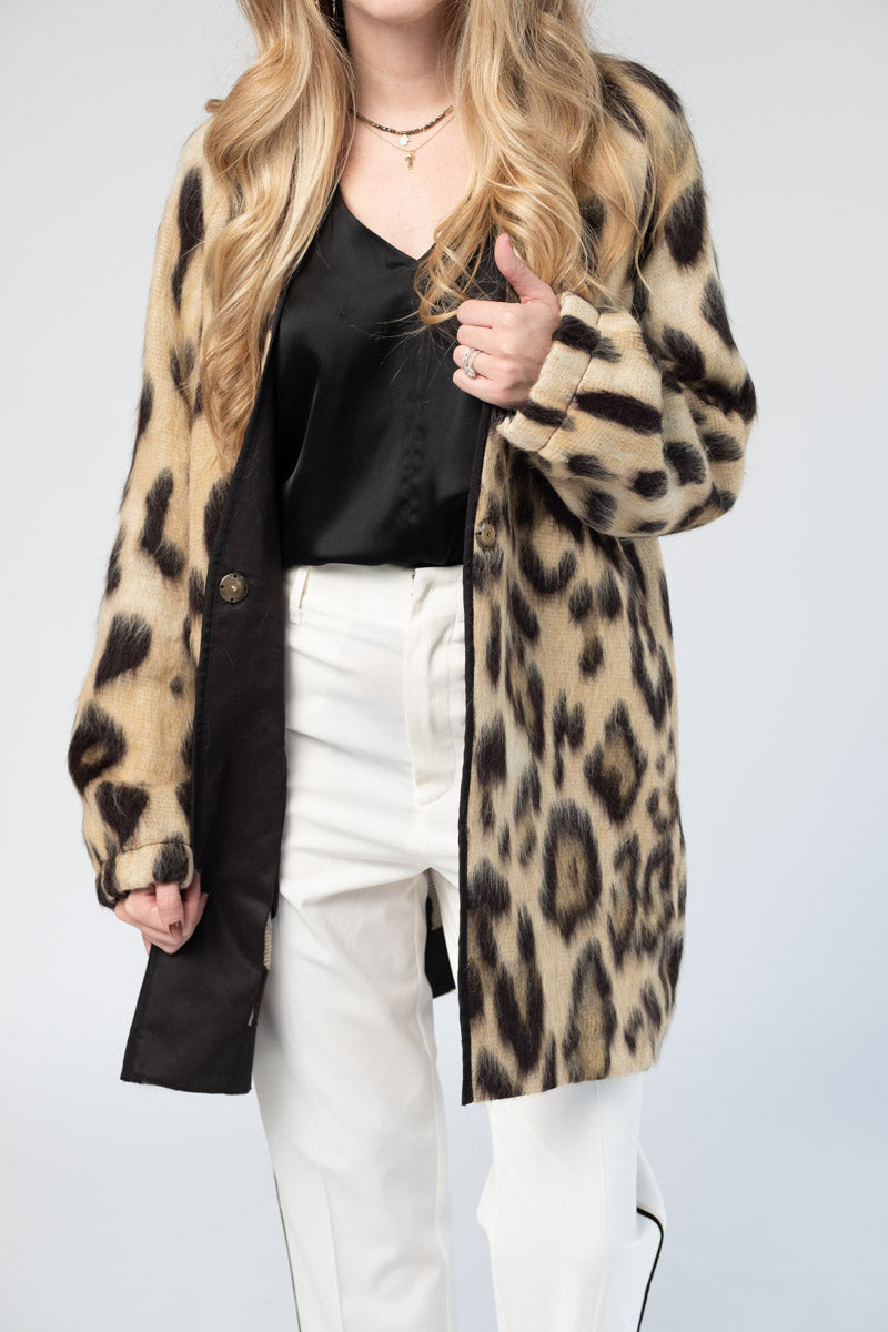 Savana Jacquard Fur Jacket in Natural