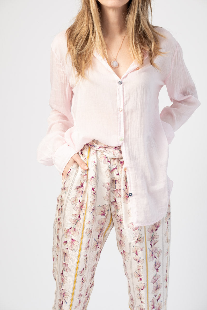 Voile Shirt in Rosa