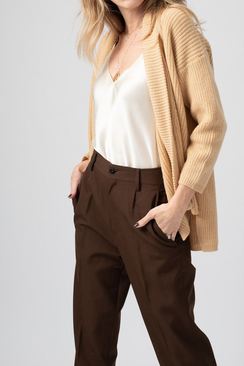 Wool Cashmere Oversized Cardigan in Vaniglia