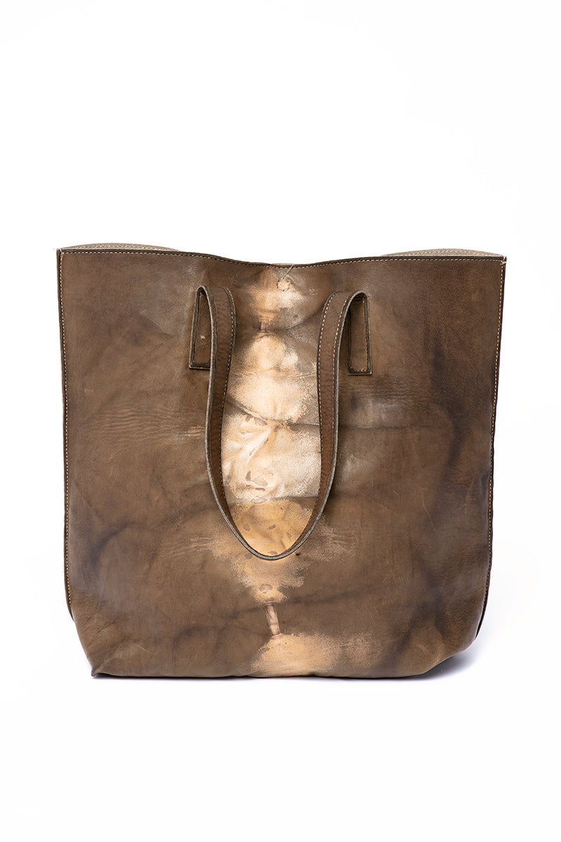 Leather Tote Bag in Palm