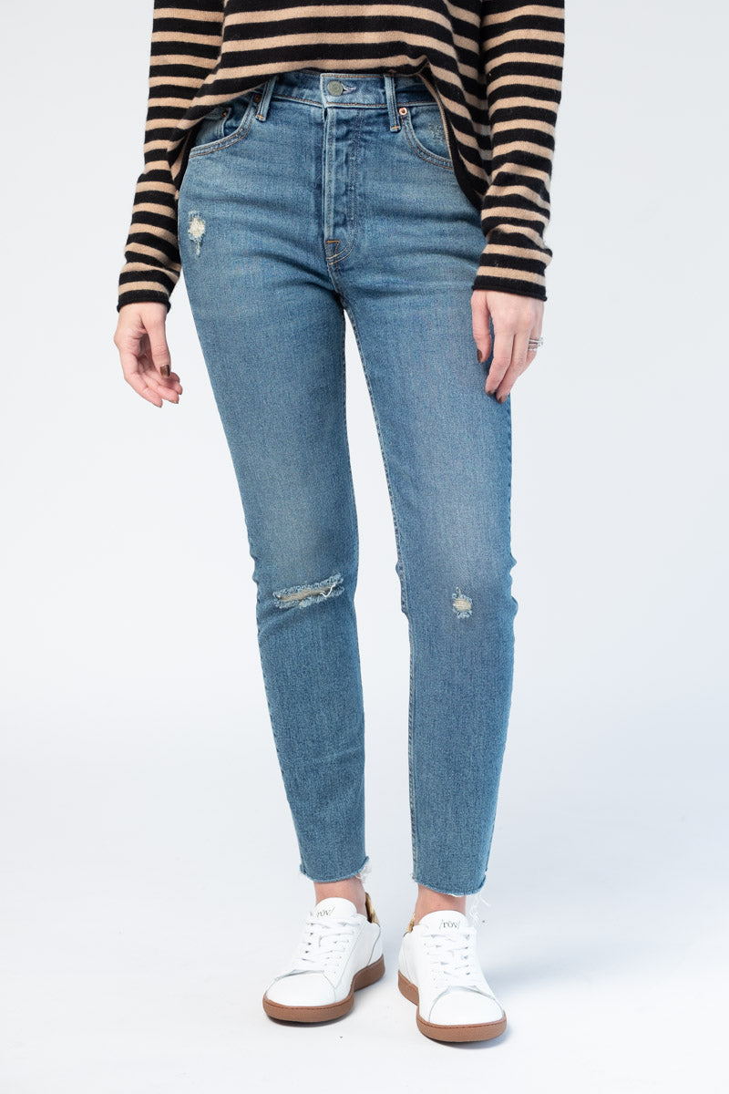 Karolina High Rise Skinny in Sixpence