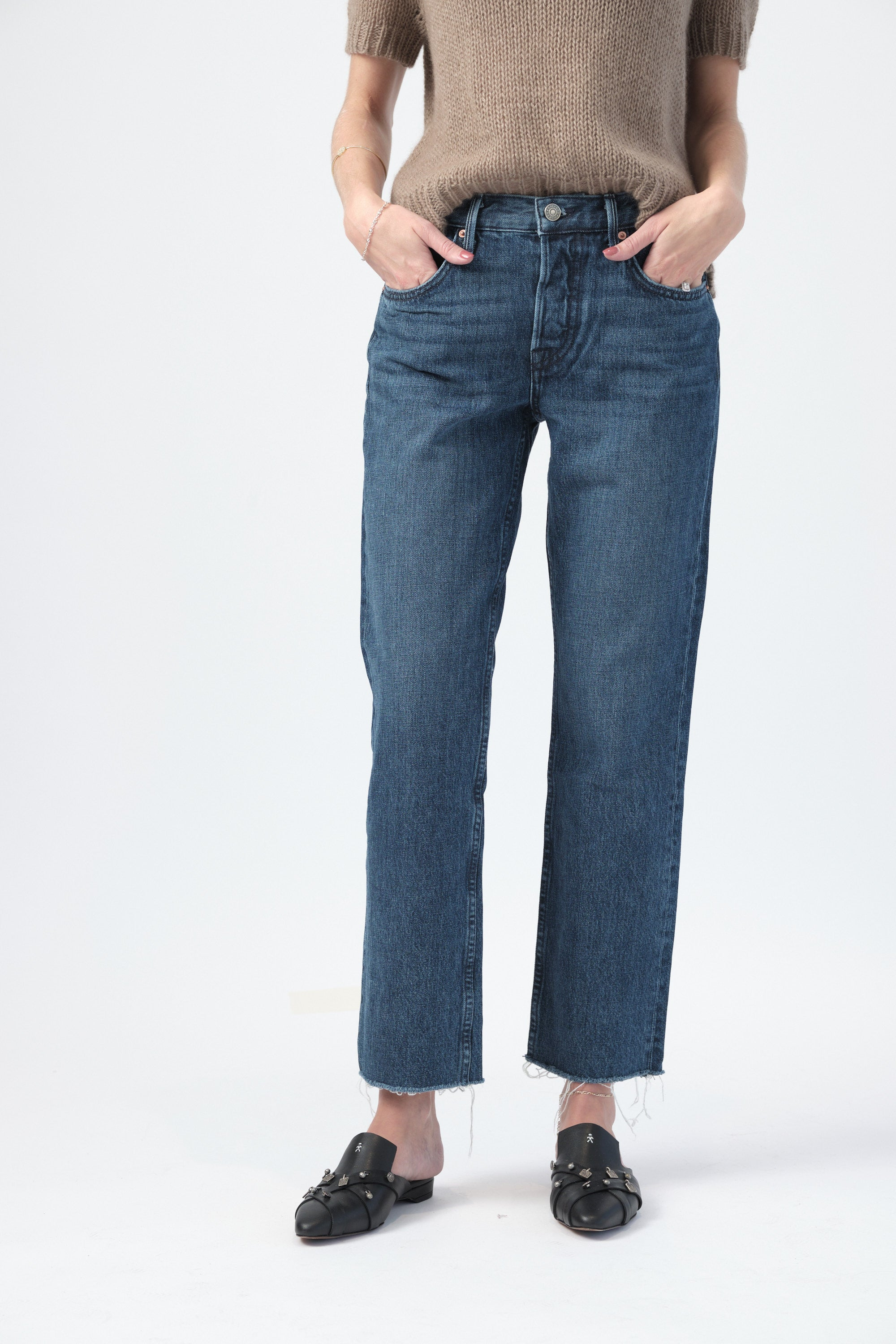 Tatum Cropped Straight Leg Jeans in Always Now