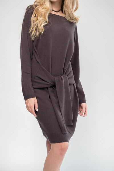 Cashmere Sweater Tie Dress