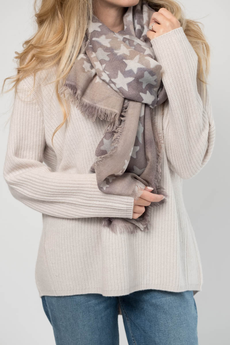 Laris Cashmere Scarf in Star Print