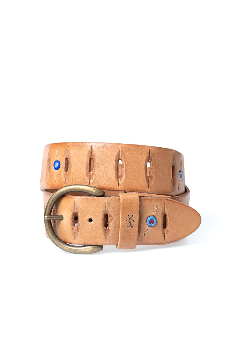 Leather Belt Spicchi in Nudo