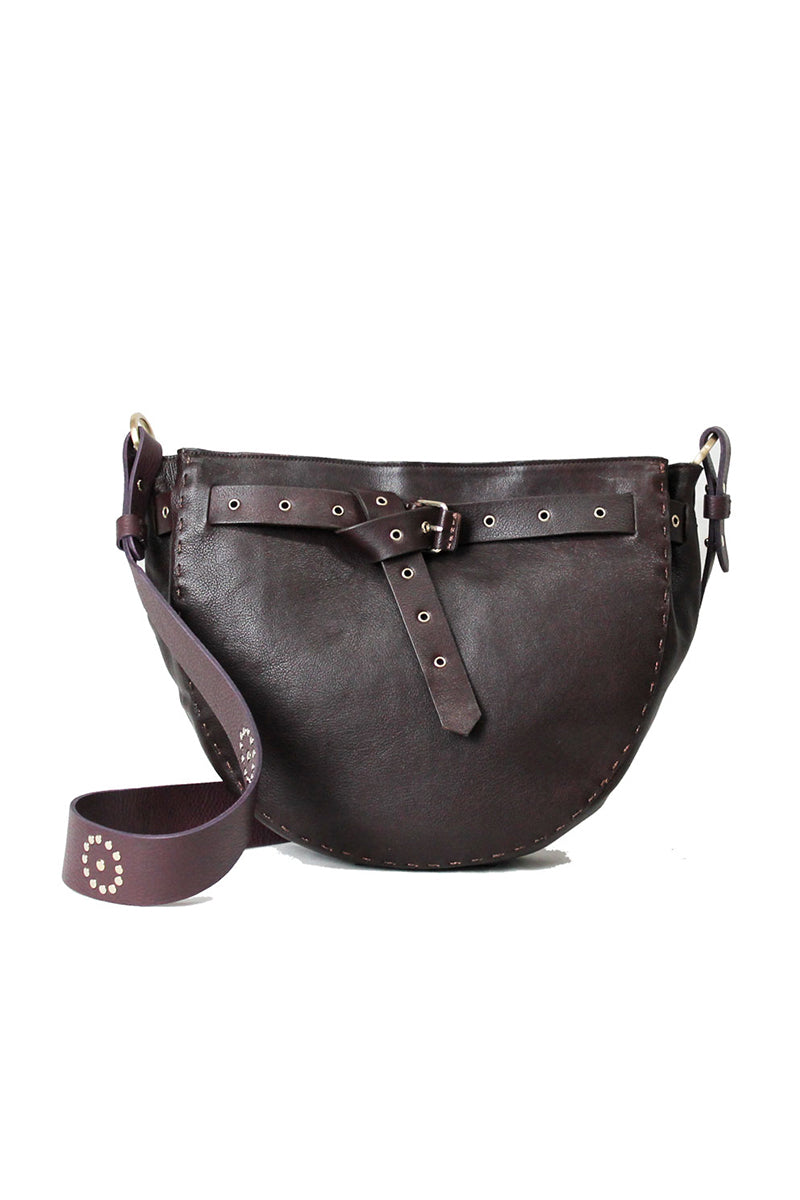 Leather Bag Susy in Mirtillo